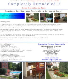 apartment ad design