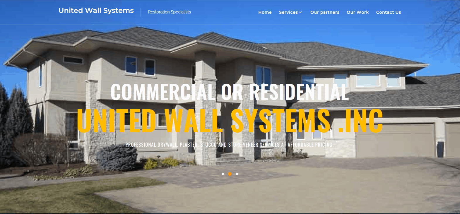 restoration website project