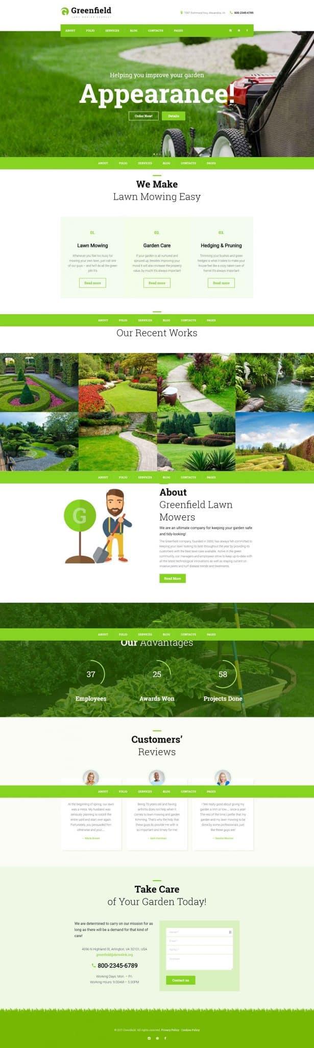 Lawn Care Landscaping Website Design Seo Optimized Designs