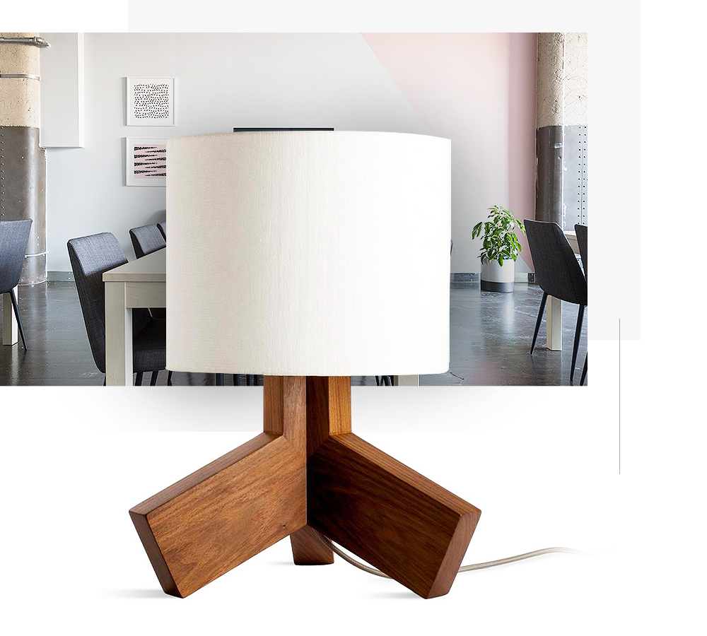 lamp and office behond