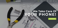 Repair website design image