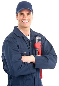 man holding a plumbers wrench