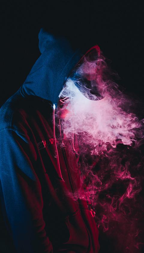 creative image of smoke with hoddie
