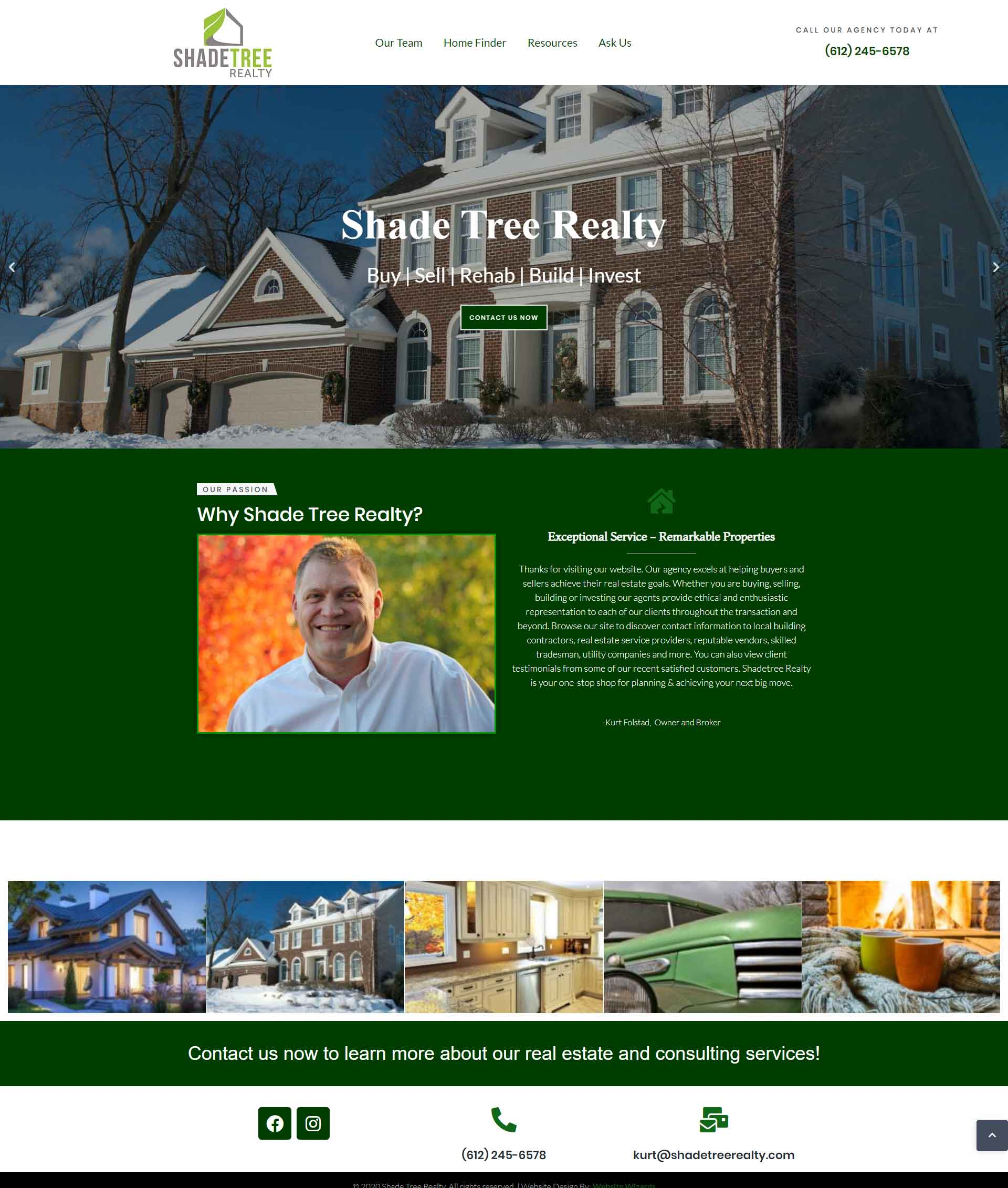 Image of realtor website home page
