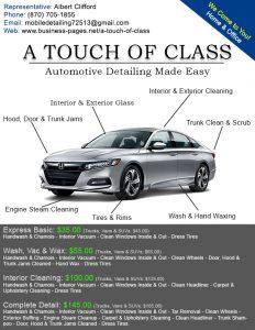 auto detailing flyer design